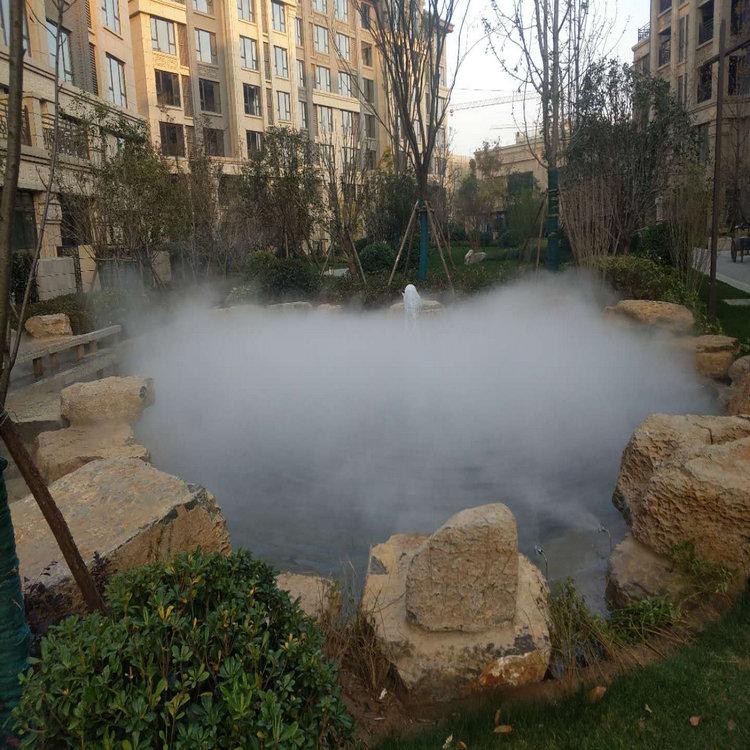 售楼部花园人造雾,喷雾降温系统,花园人造雾,售楼部花园喷雾降温系统