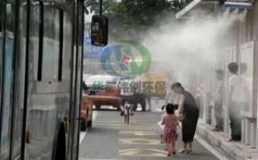 户外喷雾降温设备,公交站降温系统,高压微雾加湿设备,高压喷雾降温系统