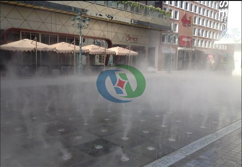 步行街降温除尘,步行街喷雾降温系统,步行街降温除尘系统